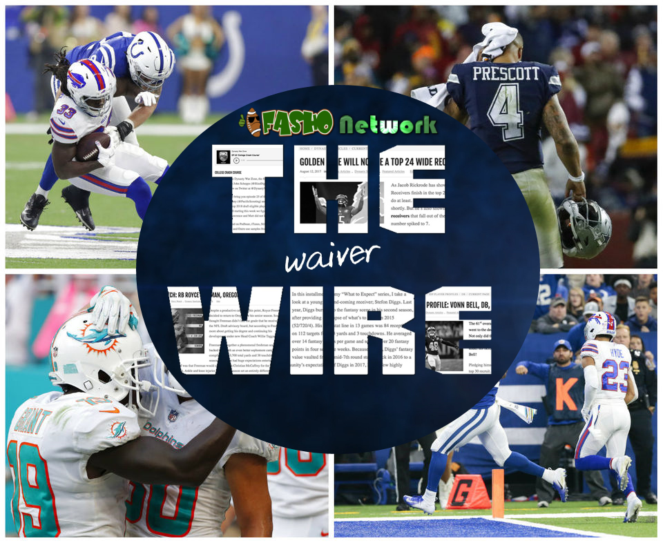 NFL waiver wire pickups week 8